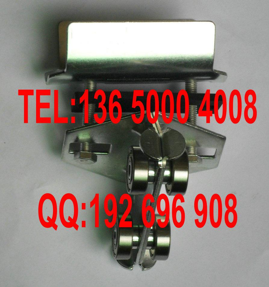 天车行车滑轮,扁线滑轮C型轨滑车,C型轨电缆滑车304不锈钢铸造