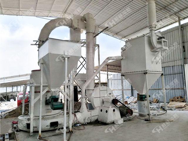 桂林鸿程粉磨生产线HCQ改进型磨粉机白云石雷蒙磨机