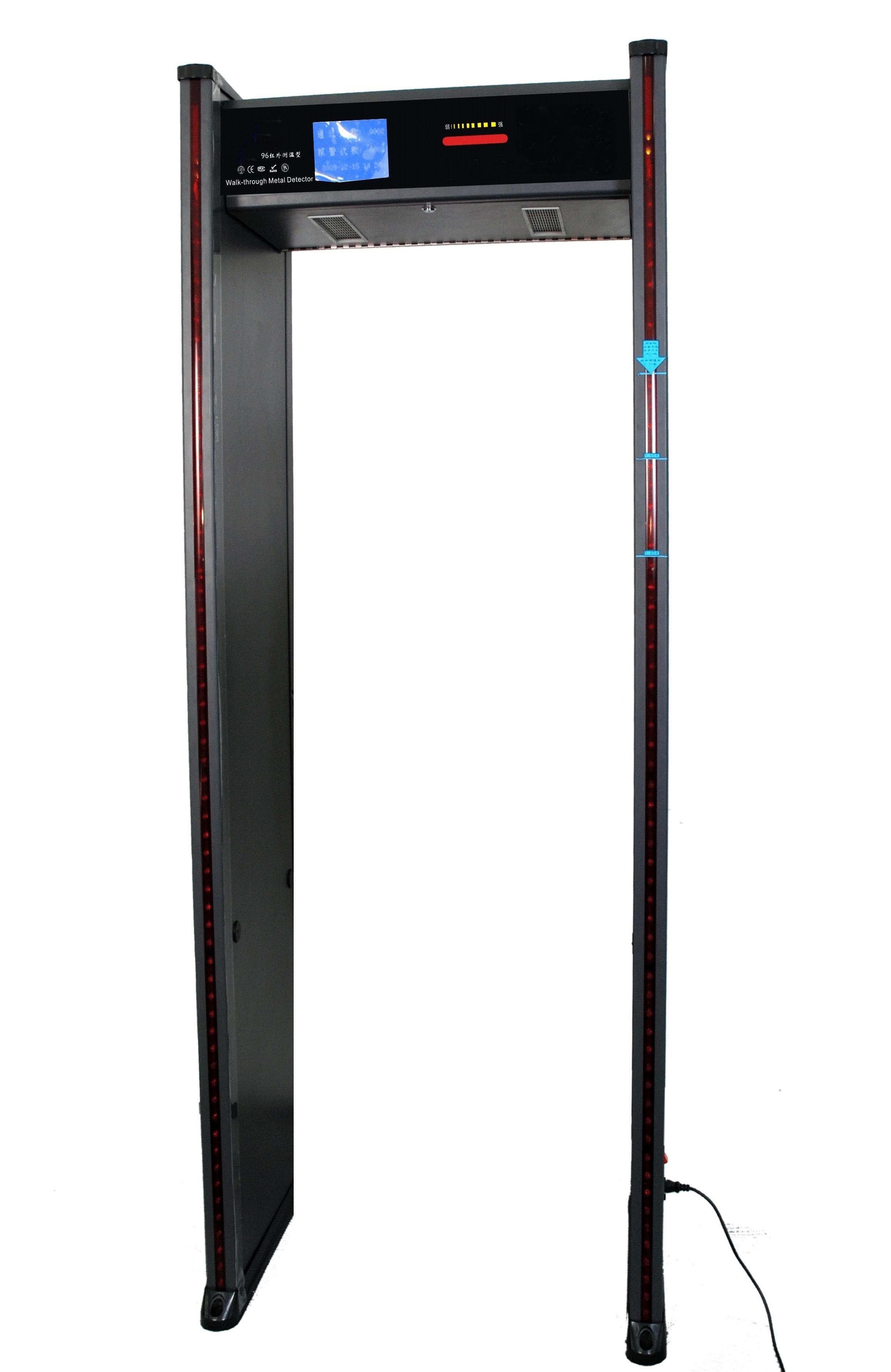 红外测温通过式安检门系统